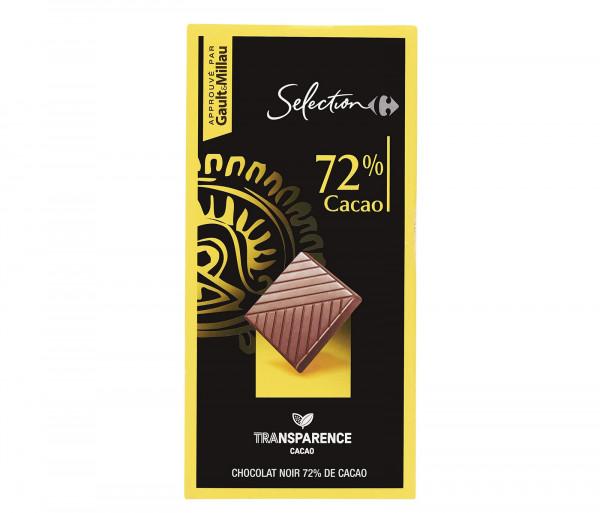 Քարֆուր 72% Մուգ Շոկոլադե սալիկ 80գ