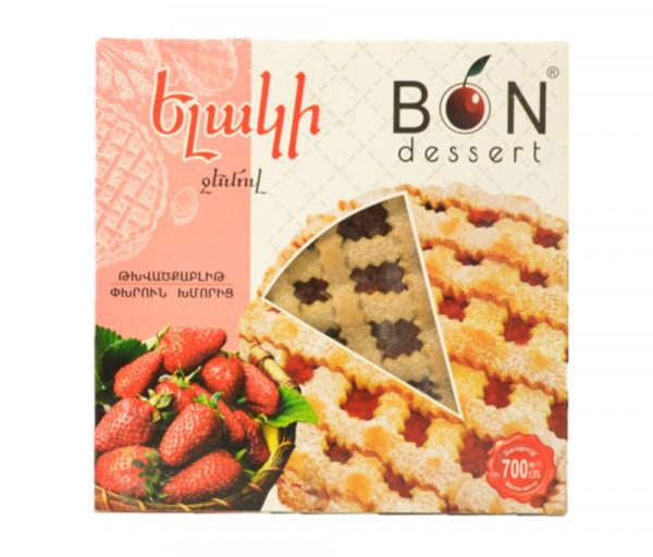 Bon Dessert Biscuits with strawberry jam 700g