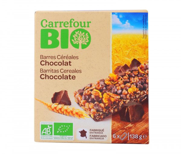 Carrefour Bio Chocolate Bars 126g Bio Cereals Bio Breakfast