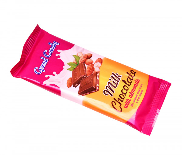 Կաթնային շոկոլադե սալիկ նուշով Grand Candy
