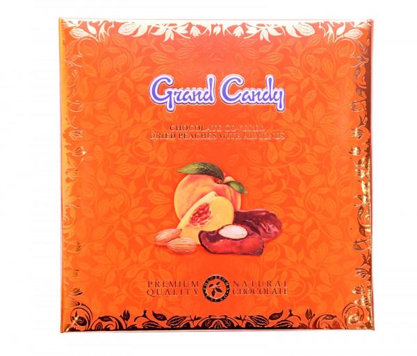 Շոկոլադապատ դեղձի չիր նուշով 190գ Grand Candy