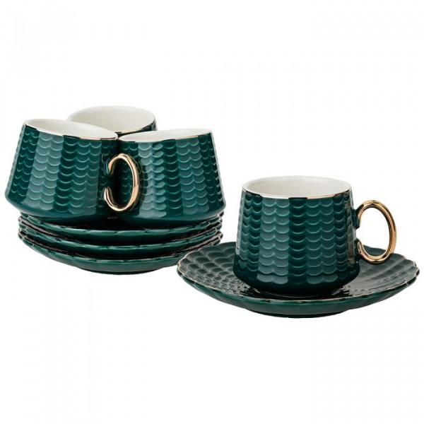 Սուրճի սպասք 4 անձի, 90մլ, մուգ կանաչ