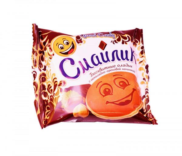 Թխվածքաբլիթ շոկոլադե միջուկով «Սմայլիկ» Grand Candy