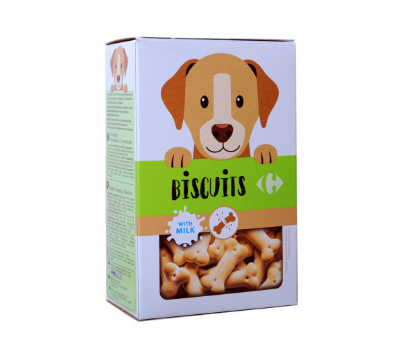 Carrefour Dog biscuits with milk 350g