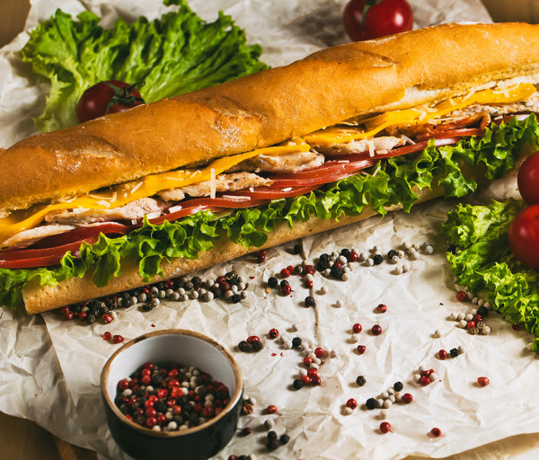 Կեսար սենդվիչ 30սմ 12 Կտոր Պիցցա