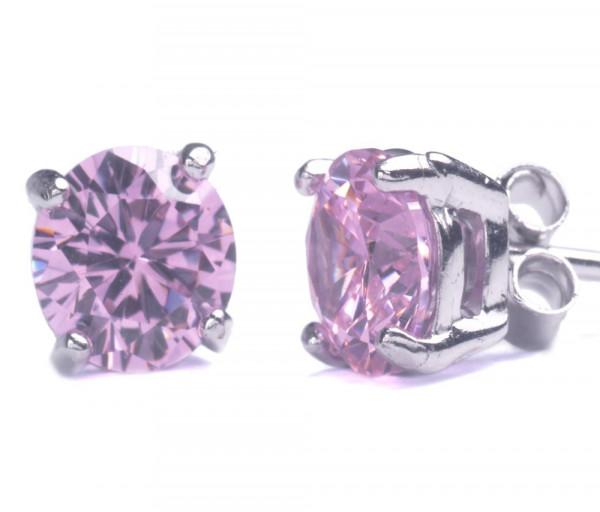 Silver earrings SE215PR6P