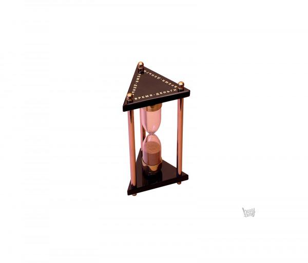 Ավազե ժամացույց օբսիդիան «Եռանկյուն»