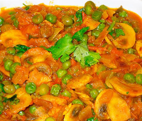 Սնկով Մասալա Կառմա Հնդկական Ռեստորան
