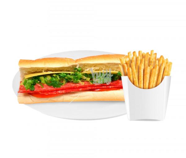 Սենդվիչ «Սալյամի» + կարտոֆիլ ֆրի