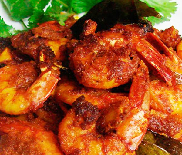Մասալայով տապակած ծովախեցգետին Կառմա Հնդկական Ռեստորան