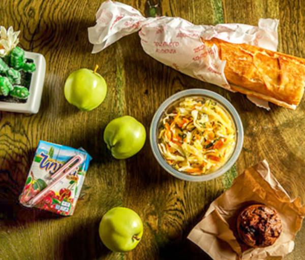 Լանչ բանջարեղենային սենդվիչով Կակտուս