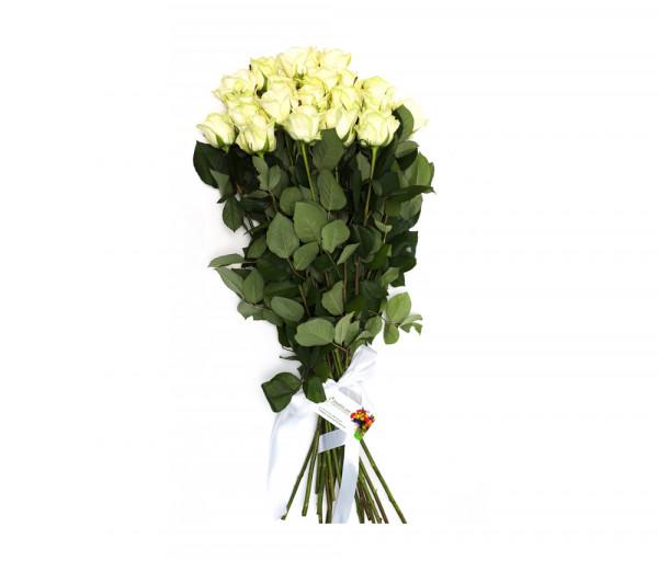 21 սպիտակ վարդով ծաղկեփունջ Anahit