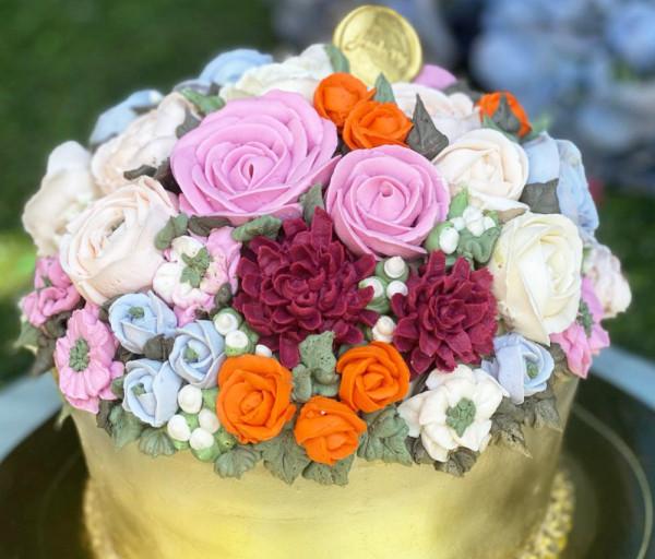 Տորթ Ծաղիկներով զամբյուղ (16 կտոր) Ջեմբերրի