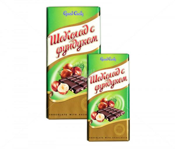 Շոկոլադե սալիկ «Պնդուկով» (մեծ) Grand Candy