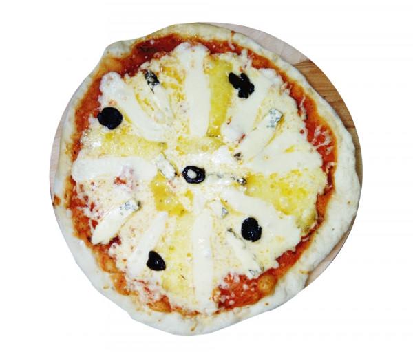 Պիցցա 3 տեսակի պանրով (փոքր) Պիցցա Է Վինո