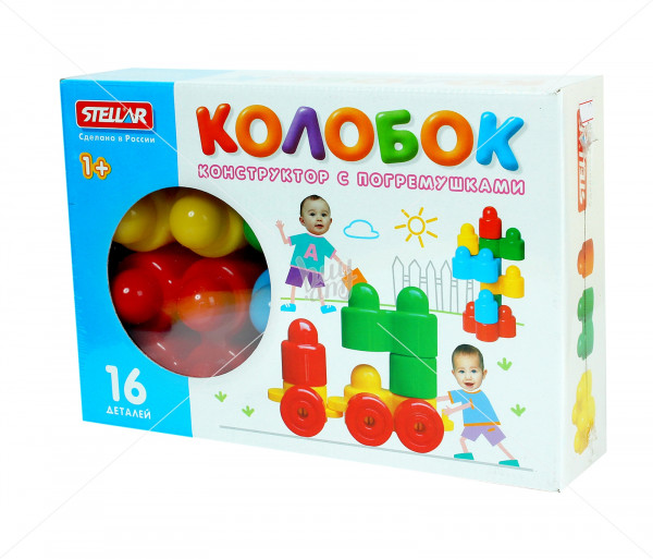Կոնստրուկտոր-պոգրիմուշկա փոքրիկների համար «Կոլոբոկ» (16 դետալ) Boo-Be