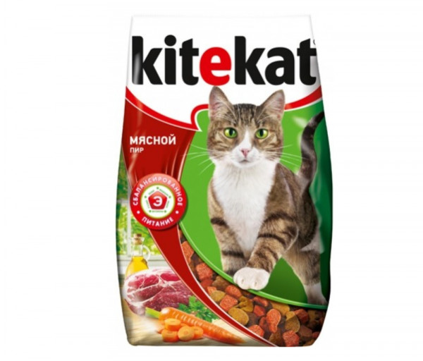 Kitekat Cat Food Meat feast 350g