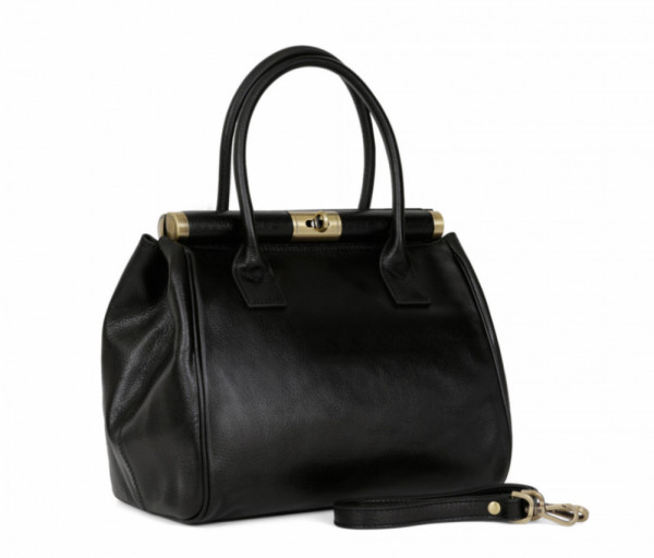 Women's leather bag Top Handle Hexagona
