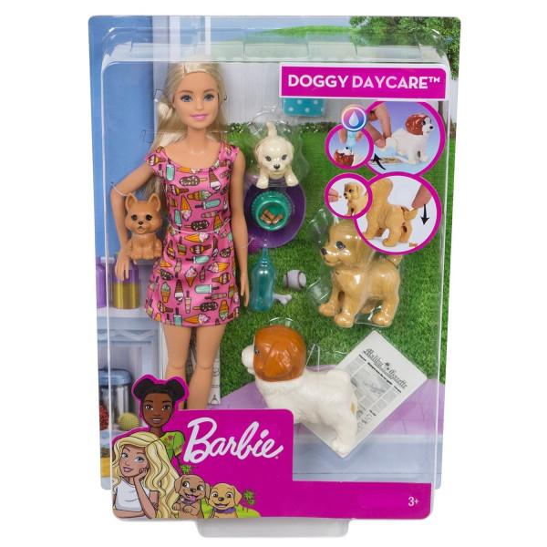 Տիկնիկ հավաքածու Շնիկների խնամք Barbie