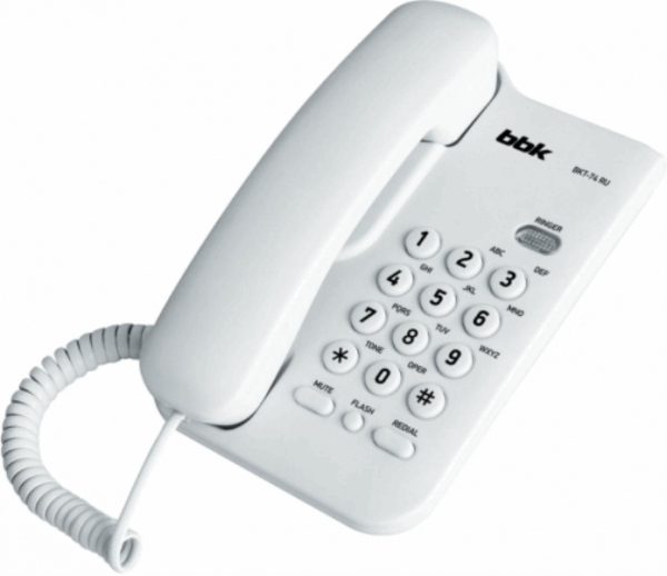 Corded phone BBK BKT74RU white