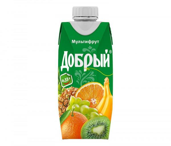 Բնական հյութ «Добрый» (մուլտիֆրութ) 0.33լ
