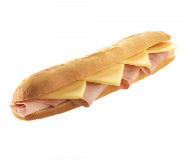 Սենդվիչ Բագետ պանրով և խոզապուխտով