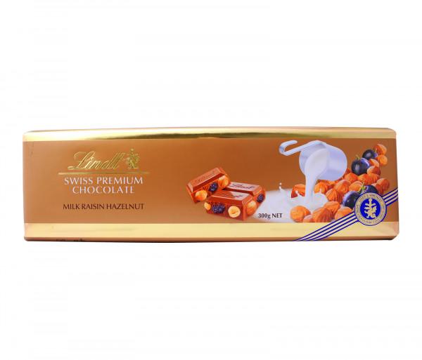 Լինդթ Գոլդ Կաթնային շոլոլադ չամիչով և ընկույզով 300գ