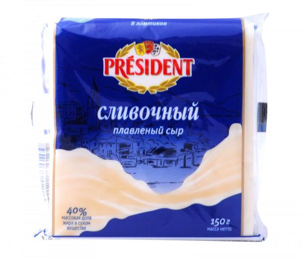 Պրեզիդենտ Հալած սերուցքային պանիր 40% 150գ