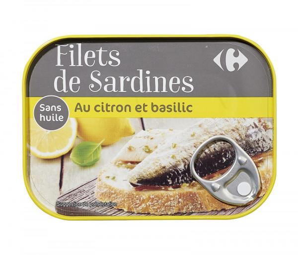 Քարֆուր Սարդինա ձկան Ֆիլե Կիտրոնով 100գ