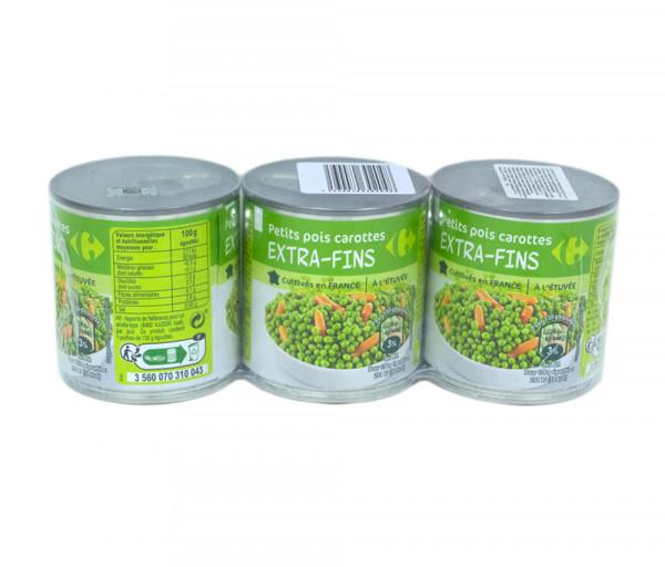 Carrefour Bio Extra Fine Peas Carrot x3