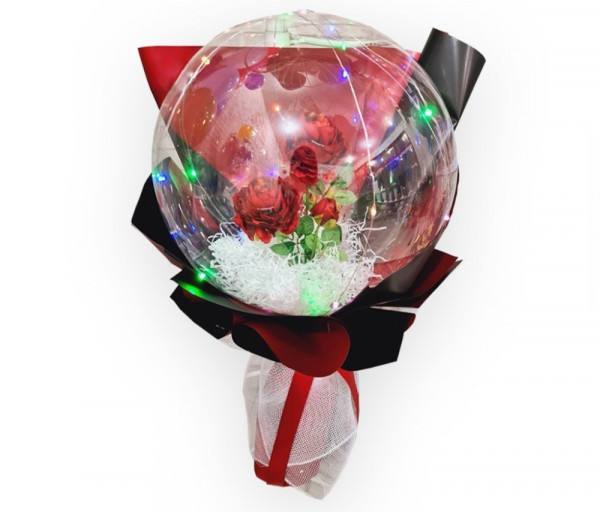 Bubble փուչիկ դիոդային լույսով և արհեստական ծաղկով Milani