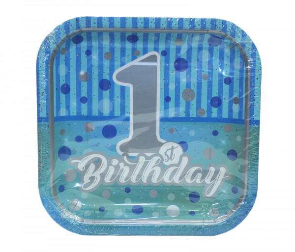 Ափսեներ «First Birthday» (8 հատ)