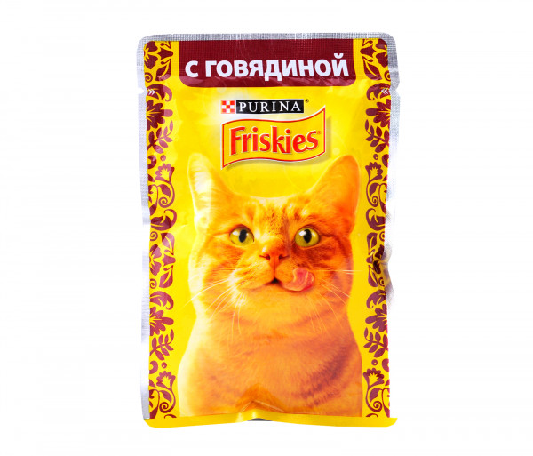 Friskies Cat food with beef 85g