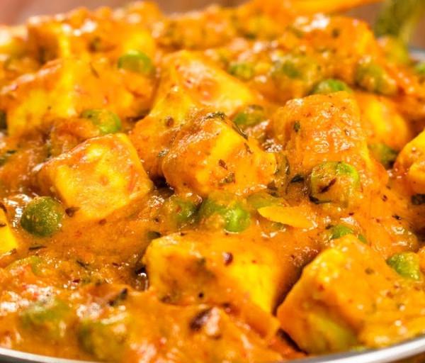 Կանաչ ոլոռով Հնդկական պանիր Կառմա Հնդկական Ռեստորան