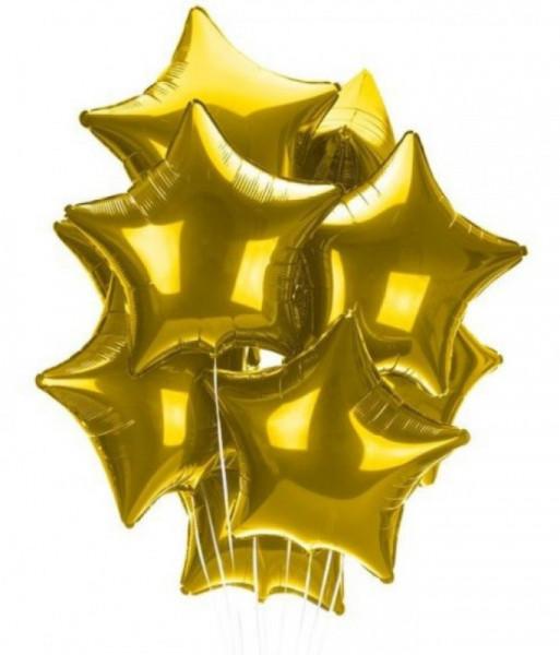 Հելիում գազով ոսկեգույն փուչիկ 10 հատ