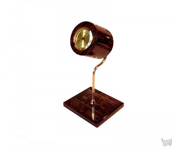 Սեղանի ժամացույց օբսիդիան «Լուսամփոփ»