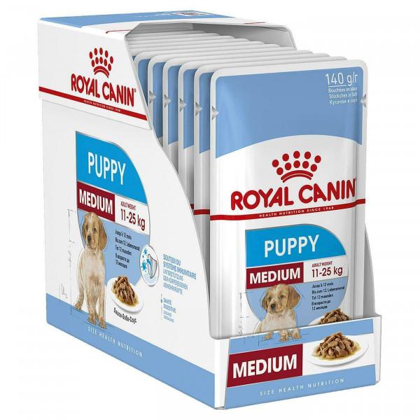 Շան խոնավ կեր Medium puppy gravy 10 x 140 գ