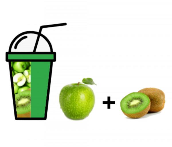 Թարմ քամած հյութ Խնձոր + Կիվի