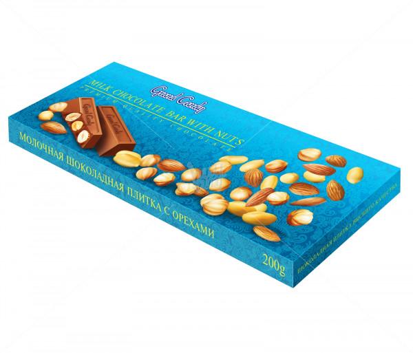 Կաթնային շոկոլադե սալիկ ընկույզներով Grand Candy