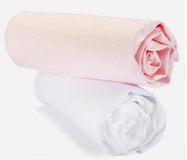 PrenataI Ներքնակի ձգվող սավան (2 հատ) Սպիտակ, վարդագույն 500103001PN
