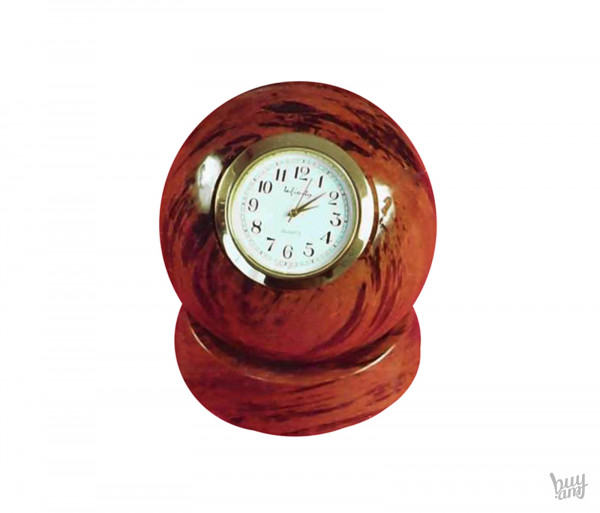 Սեղանի ժամացույց օբսիդիան «Գունդ» միջին