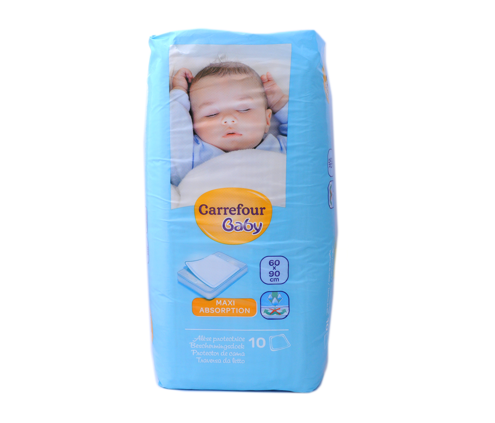 new style 20005 16469 Carrefour Baby Absorbent Sheets X10 | Sheet | Wet napkin ...