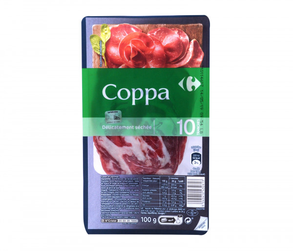 Carrefour 10 Slices Of Coppa 100g