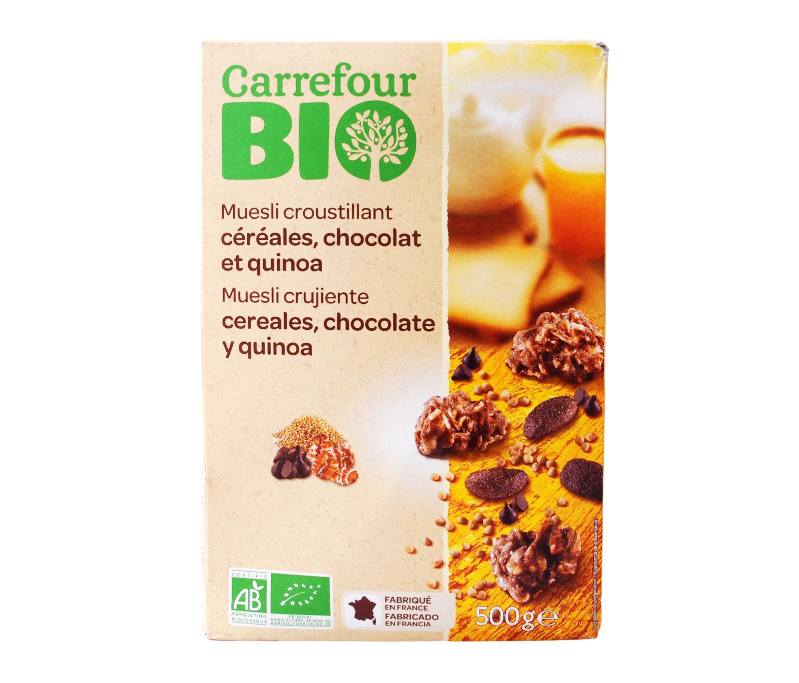 Carrefour Bio Org Quino Chocolate Muesli 500g Bio Cereals Bio
