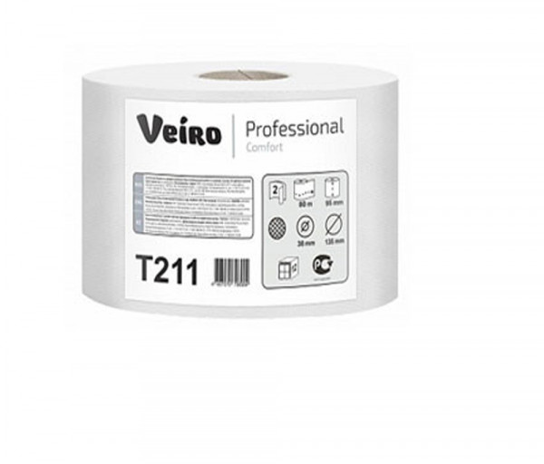 Զուգարանի թուղթ (երկշերտ) Veiro Professional T211, 80մ