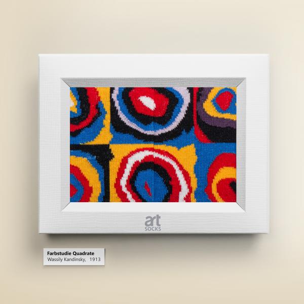"Socks Wassily Kandinsky ""Farbstudie Quadrate"" Limited Edition Artsocks"