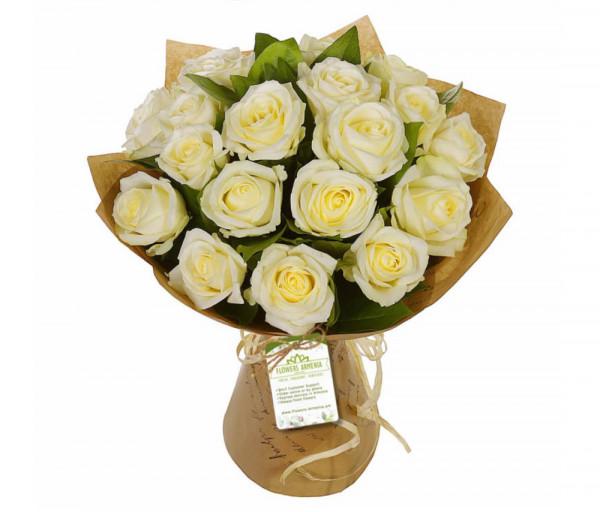 Ծաղկեփունջ «Ճերմակ Հրաշք» Flowers Armenia