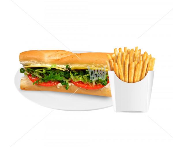 Սենդվիչ «Մոնտե Քրիստո» + կարտոֆիլ ֆրի