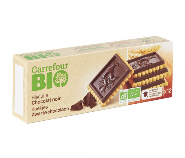 Carrefour Biscuit Tablet Dark Chocolate 150g