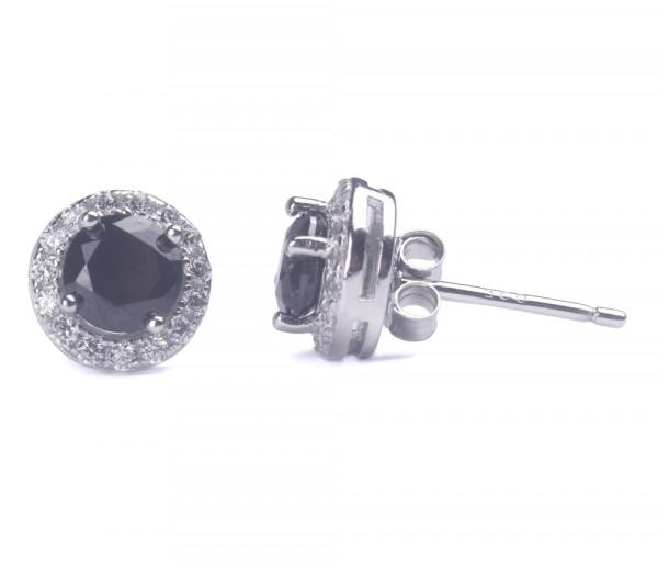Արծաթյա ականջօղեր SE214RD5BK